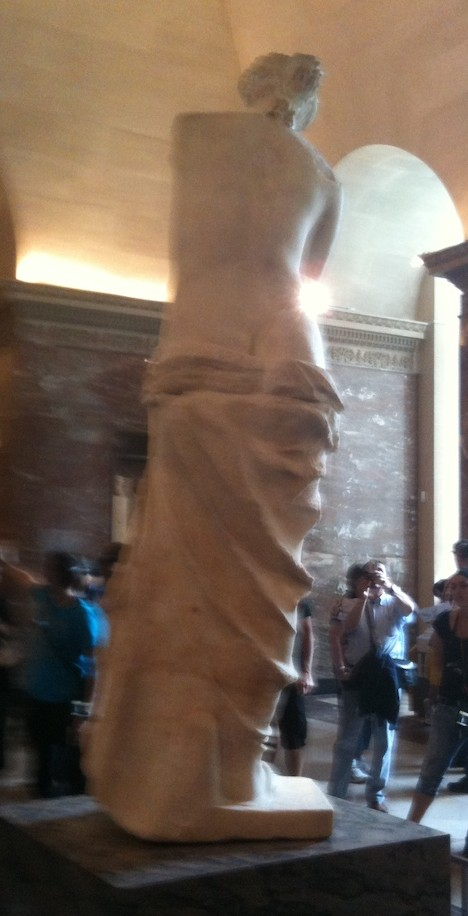 Venus de Milo from the seldom-photographed back.