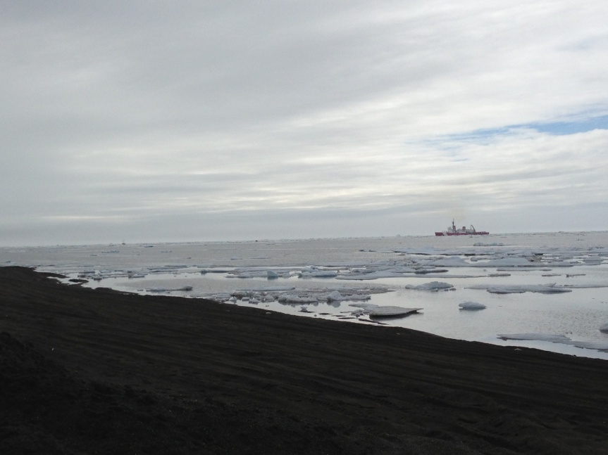 USCG Polar Star off Barrow in the ice.