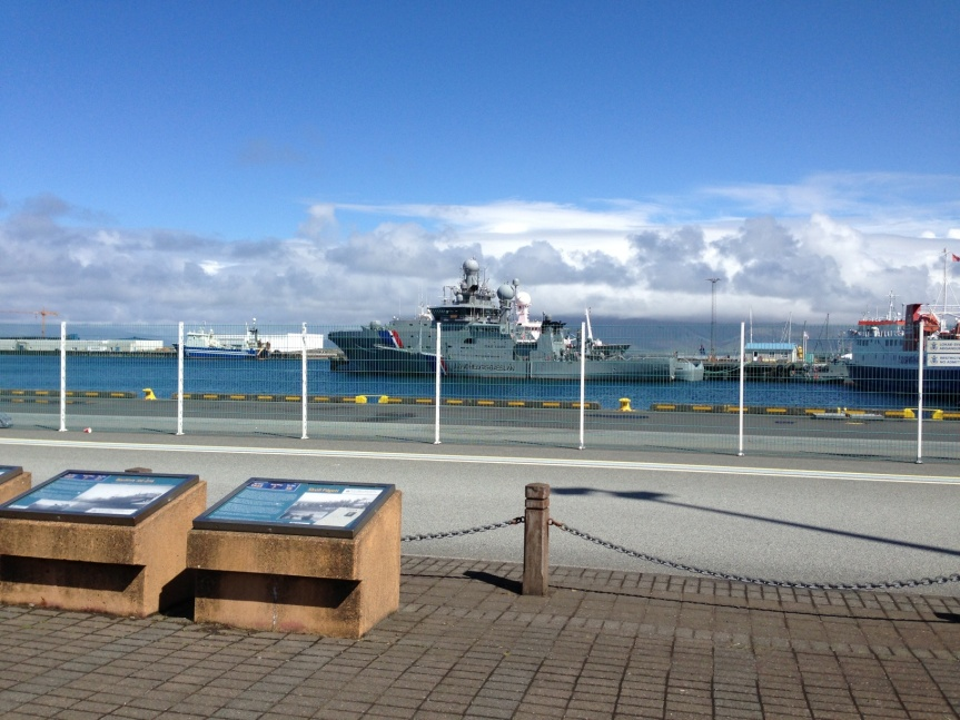 Icelandic Coast Guard ships.