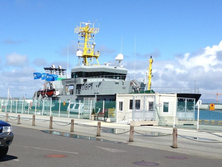 German Fisheries Protection ship.