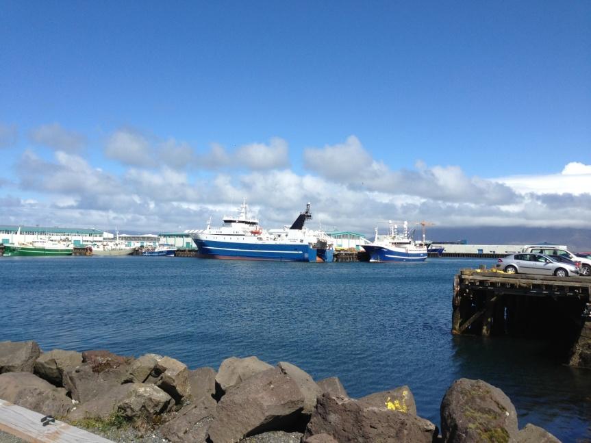 Trawler in Reykjavik harbor.