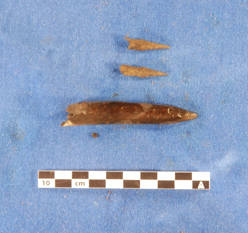Fragments of arrowheads.