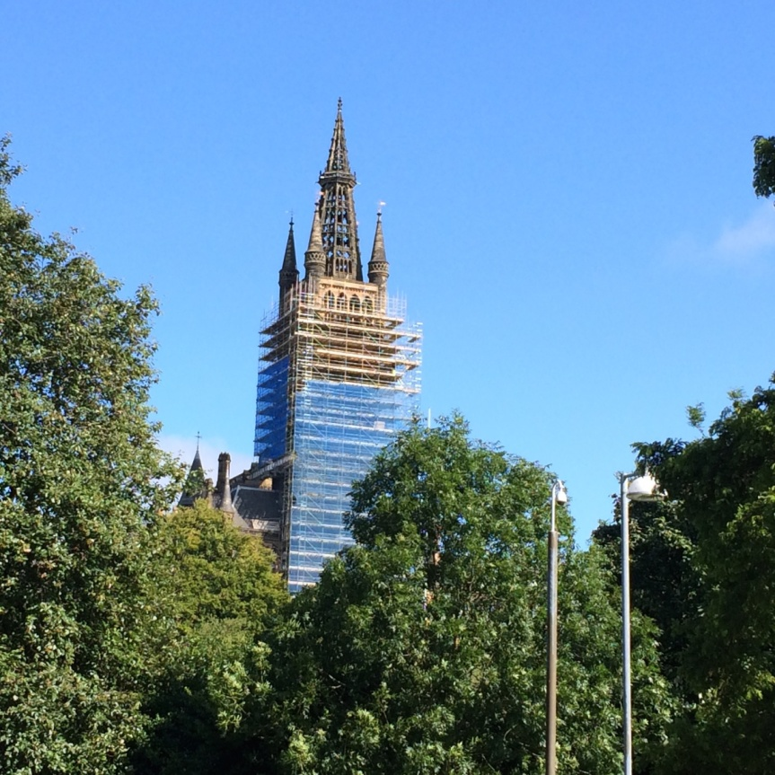 University of Glasgow Main Building tower