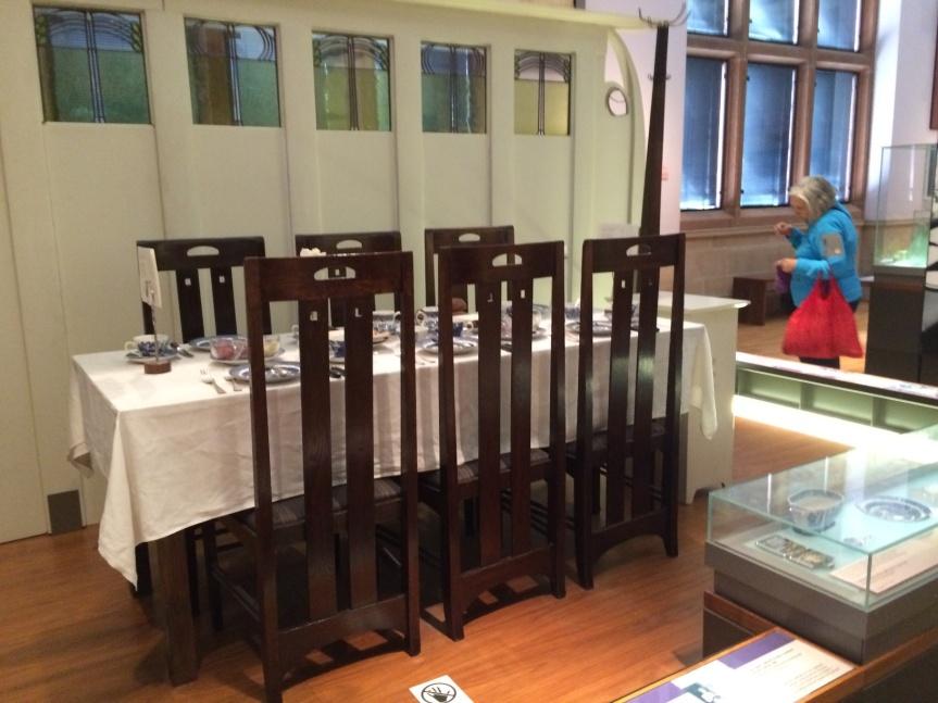 Charles Rennie Mackintosh table & chairs.