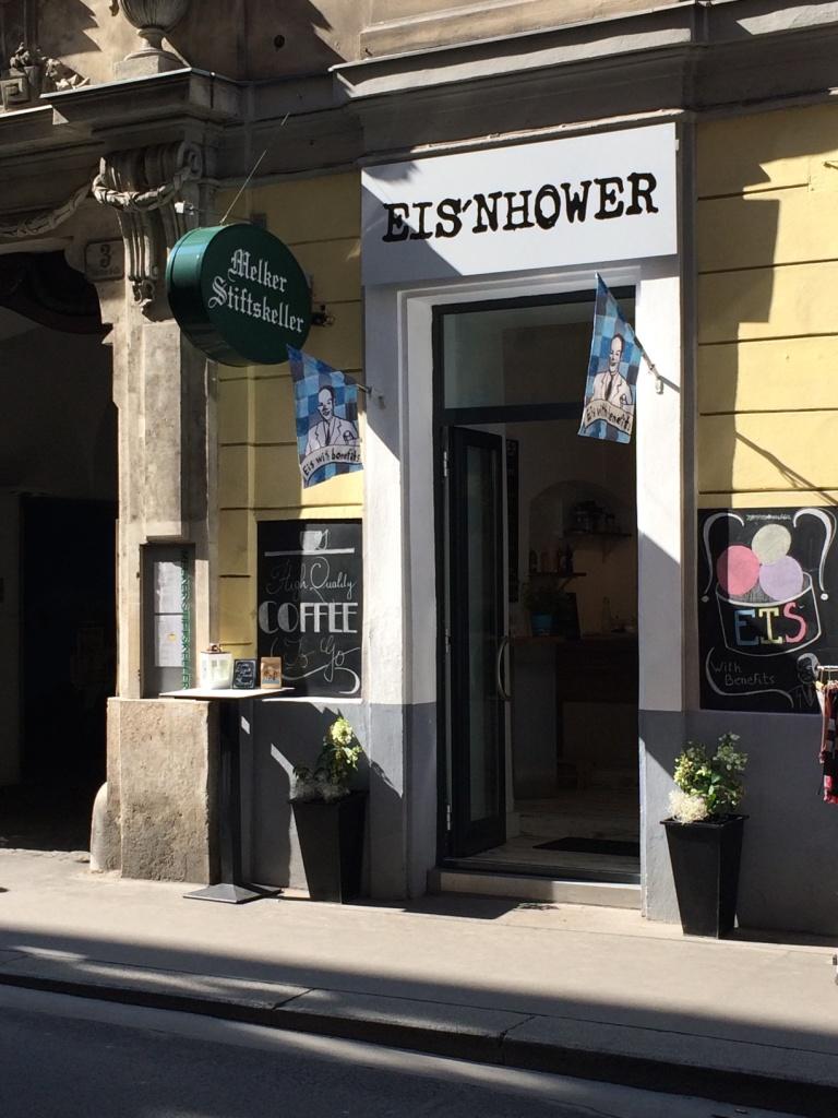 An ice cream shop in Vienna.
