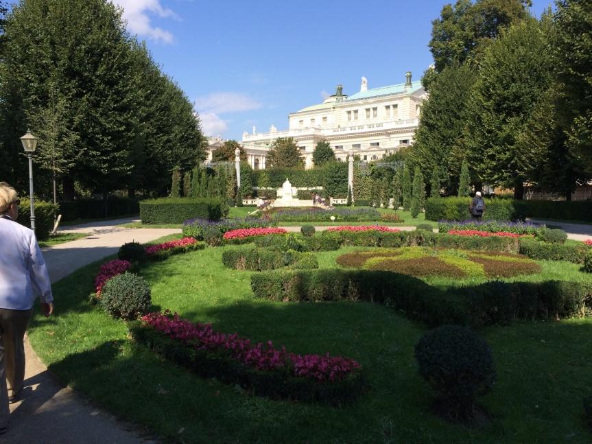 Gardens in Vienna.