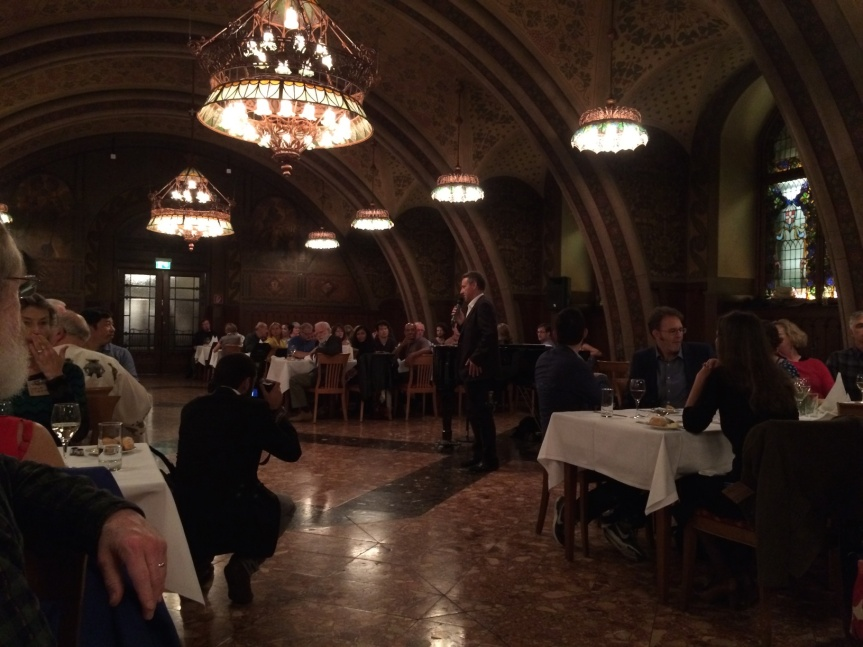 Conference banquet in Wiener Rathauskeller.